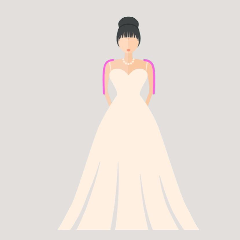 Schöne Schultern im Brautkleid